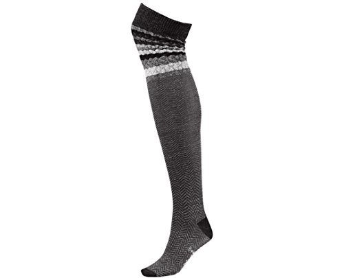 SmartWool-SmartWool Women's Striped Chevron Socks (Charcoal Heather) Medium