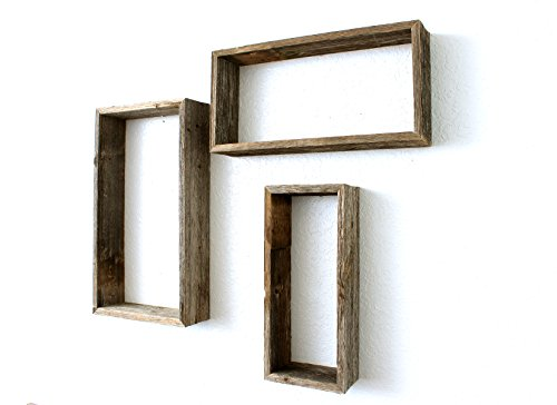 BarnwoodUSA-Set of 3 Rustic Triangles - Weathered Gray