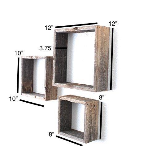 BarnwoodUSA-Set of 3 Rustic Triangles - Weathered Gray