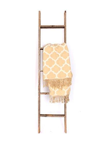 BarnwoodUSA-3 Foot Rustic Barnwood Blanket or Decoration Ladder
