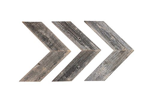 BarnwoodUSA-Rustic Chevron Decorative Arrow Set - White Wash