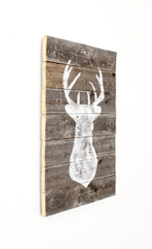 BarnwoodUSA-BarnwoodUSA Farmhouse Deer Plaque - Hand Made From 100% Up-cycled Reclaimed Wood