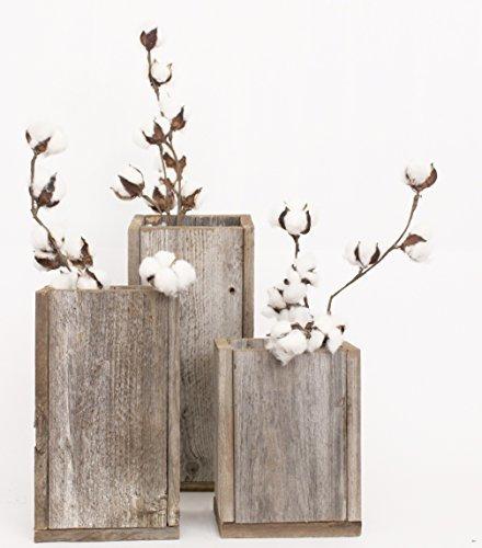BarnwoodUSA-Rustic Barnwood Planter Vase