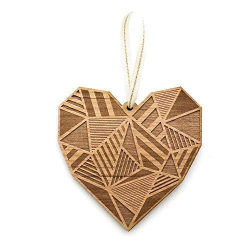 Cardtorial-Patchwork Heart Laser Cut Wood Ornament