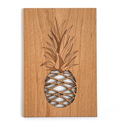 Cardtorial-Pineapple Laser Cut Wood Greeting Card