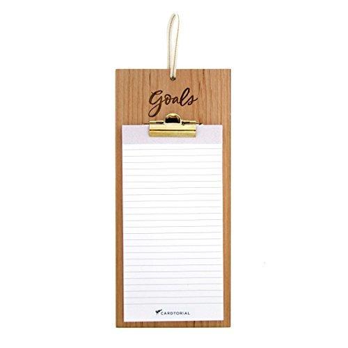Cardtorial-Goals Laser Cut Wood Clipboard