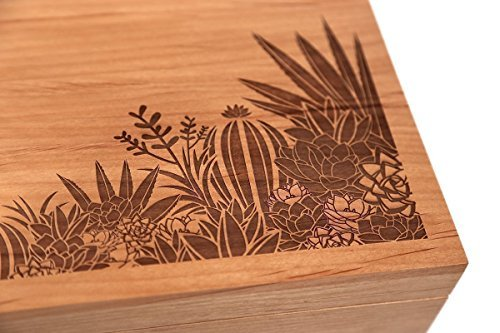 Cardtorial-Desert Garden Laser Cut Wood Keepsake Box