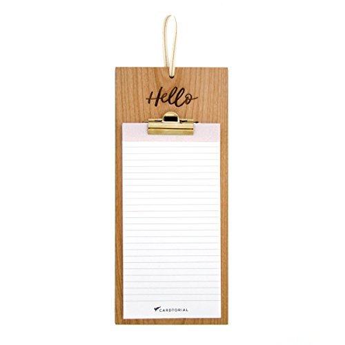 Cardtorial-Hello Laser Cut Wood Clipboard