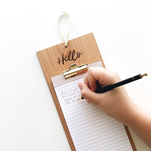 Cardtorial-Hello Laser Cut Wood Clipboard