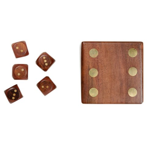 Connected Fair Trade Products-Fair Trade Wood Dice Box Set