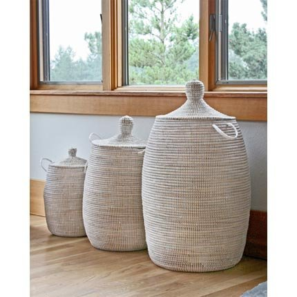Connected Fair Trade Products-Woven African Laundry Clothes Hamper