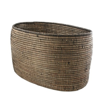Connected Fair Trade Products-Woven Storage Basket - Black