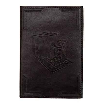 Connected Fair Trade Products-Leather Journal Camera Embossed
