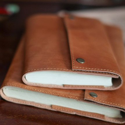 Connected Fair Trade Products-Leather Snap Journal