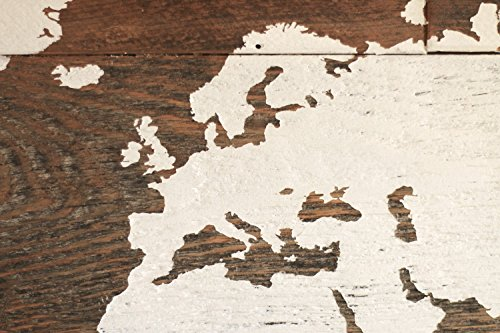 Grindstone Design-Barn wood world map in large size for travelers