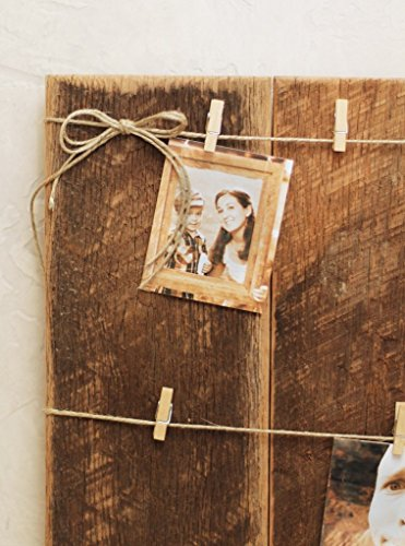 Grindstone Design-Clothespin photo collage on barn wood