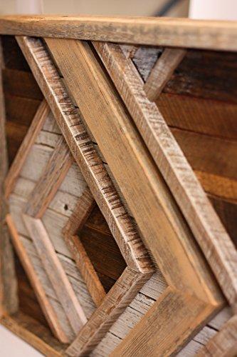 Grindstone Design-Reclaimed Wood Wall Art - Chevron Decor