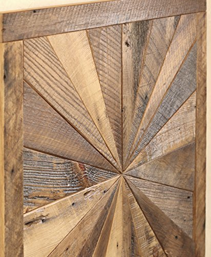 Grindstone Design-Starburst pattern wall art made from reclaimed wood - Barn wood wall art