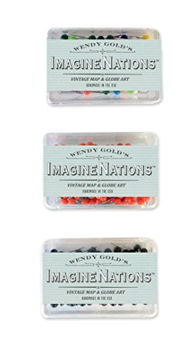 ImagineNations by Wendy Gold-Ski or Snowboard Adventures Personalized World Push Pin Map Art