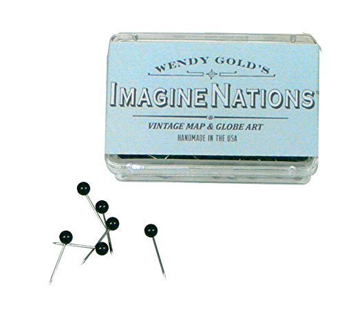 ImagineNations by Wendy Gold-Personalized Vintage Explore World Push Pin Map Art
