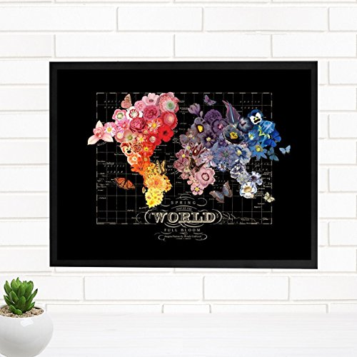 ImagineNations by Wendy Gold-Spring Bloom Framed Vintage Map Art
