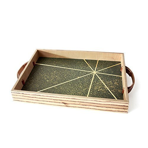 M.F.E.O.-Mid-Century Modern Brass Serving Tray