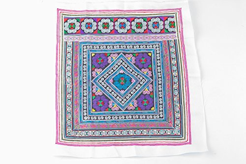 changnoi-Multi Diamond Textlie Hmong Embroidered Fabric