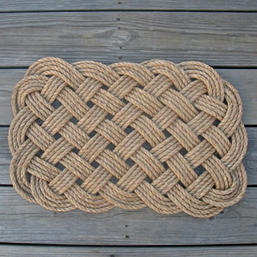 Mystic Knotwork-Nautical Manila Rope Door Mat 4 Pass Square
