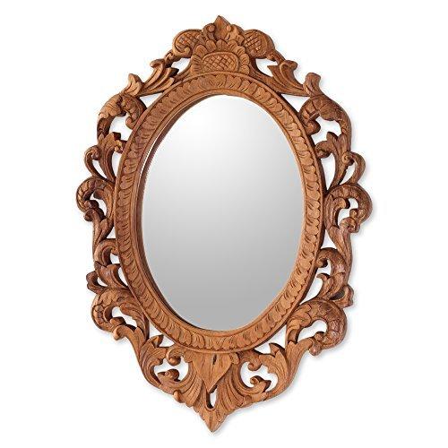NOVICA-Keraton Rococo Wood Wall Mirror
