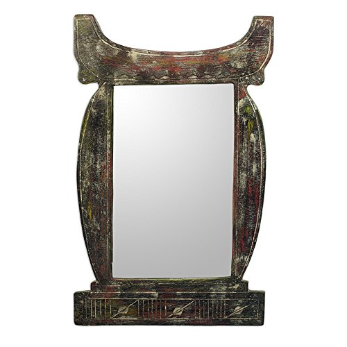 NOVICA-Decorative Wood Wall Mounted Mirror - Regal Odo Hemaa