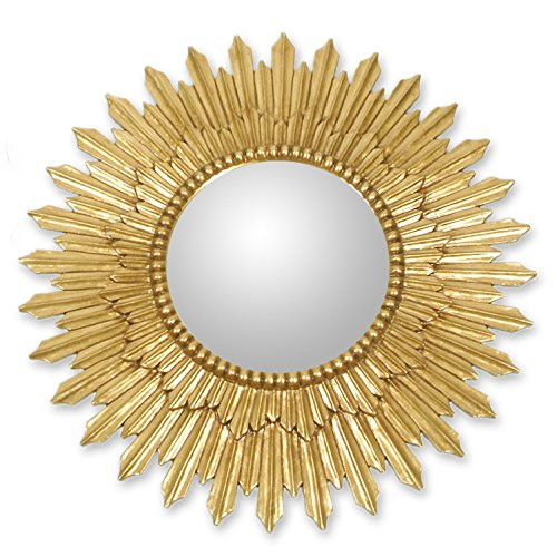 NOVICA-Mohena mirror - Radiant Sun