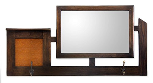 NOVICA-Vision Of Java Teakwood Mirror
