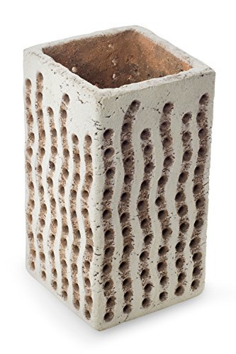 NOVICA-Rustic Ceramic Accent Lamp - White Woven Light