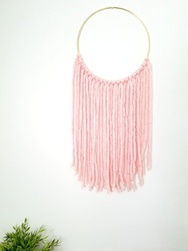Indie Littles-Yarn Wall Hanging on Gold Ring