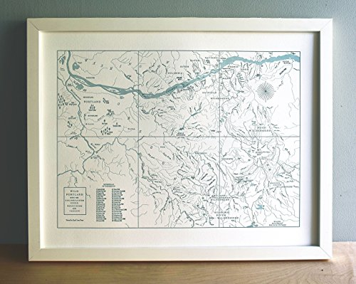 Quail Lane Press-Wild Portland Oregon, Columbia River Gorge, Mount Hood Map