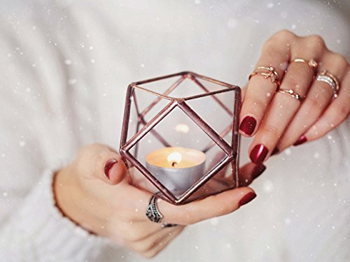 Waen-Glass Geometric Candle Holder