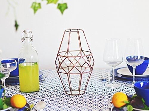 Waen-Large Glass Geometric Vase