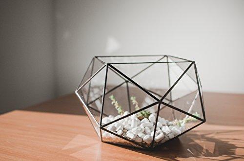 Leosklo-Geometric Vase Table Decor Terrarium Stainedglass Vase