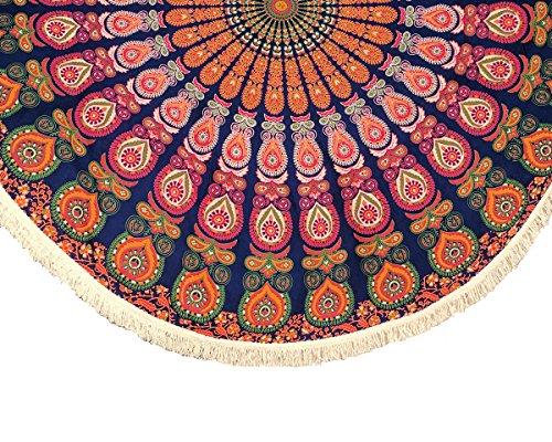 Mandala Life ART-Bohemian Decor Round Beach Tapestry Indian Mandala Throw