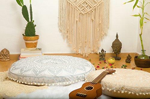 Mandala Life ART-Bohemian Ombre Indian Mandala Pouf Floor Cushion Cover