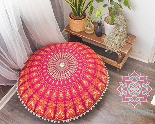 Mandala Life ART-Bohemian Decor Floor Cushion Cover