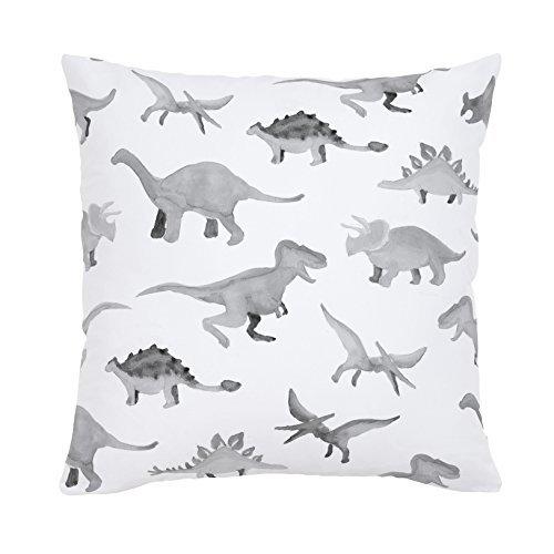 Carousel Designs-Pink Watercolor Dinosaurs Throw Pillow