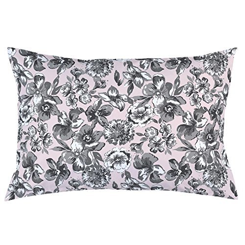 Carousel Designs-Pink and Gray Floral Pillow Case