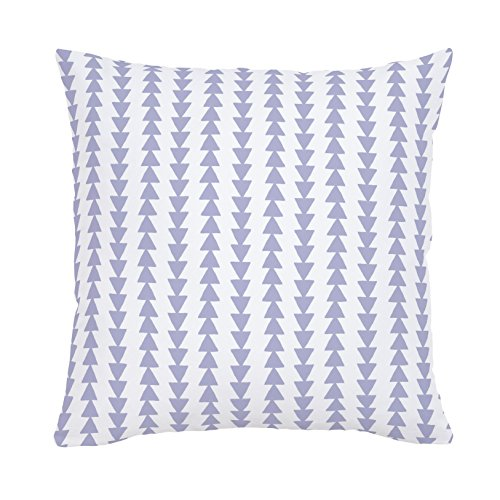 Carousel Designs-Lavender Arrow Stripe Throw Pillow 20-Inch Square