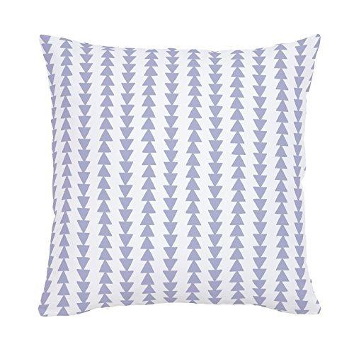 Carousel Designs-Lavender Arrow Stripe Throw Pillow 20-Inch Square