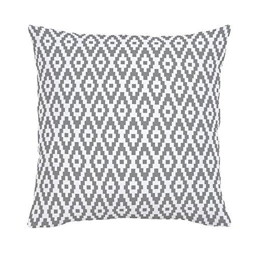 Carousel Designs-Cloud Gray Aztec Diamonds Throw Pillow 18-Inch Square