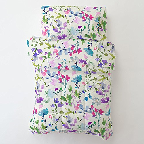 Carousel Designs- Bright Wildflower Toddler Bed Pillow Case with Pillow