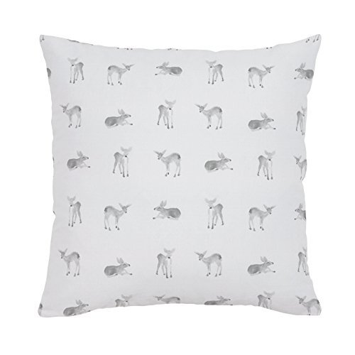 Carousel Designs-Silver Gray Fawns Throw Pillow 18-Inch