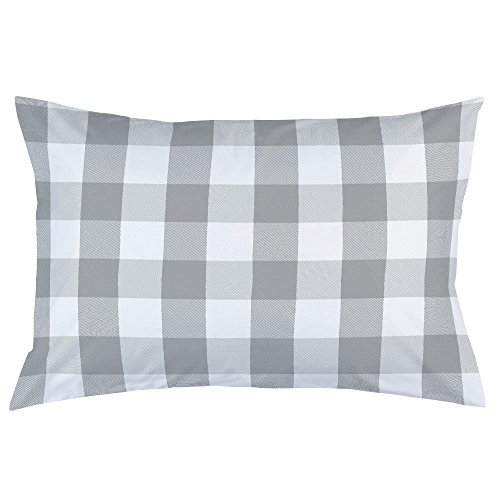Carousel Designs-Gray Buffalo Check Pillow Case