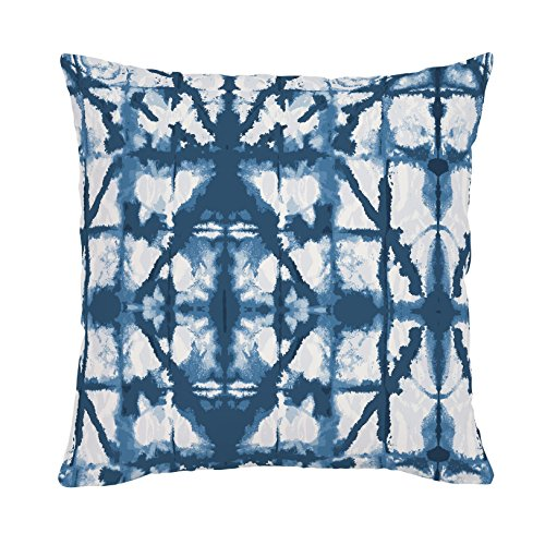 Carousel Designs-Indigo Blue Shibori Throw Pillow 20-Inch Square